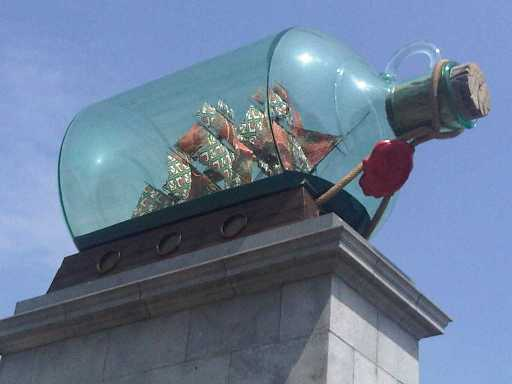 Nelson's ship in a bottle tops the Fourth Plinth in