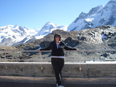 Glenna with Trafalgar in Zermatt, Switzerland