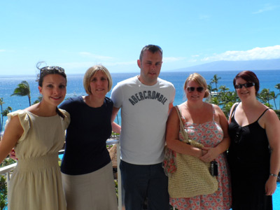 Our group and the amazing view from our hotel