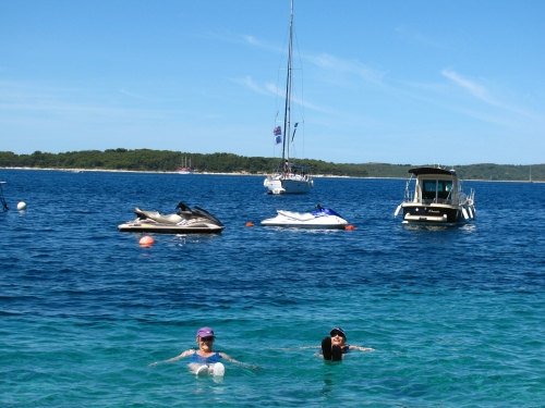 Swimming in Hvar