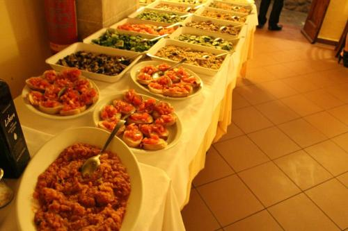 Appetizers at our Be My Guest in Tuscany