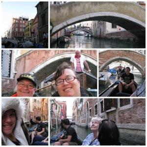 Gondola ride canals Venice