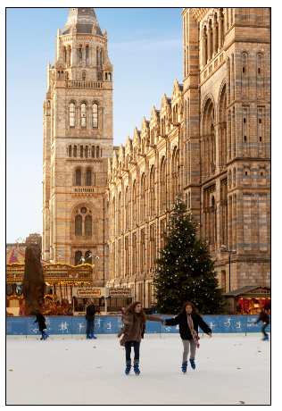 Ice-skating in London