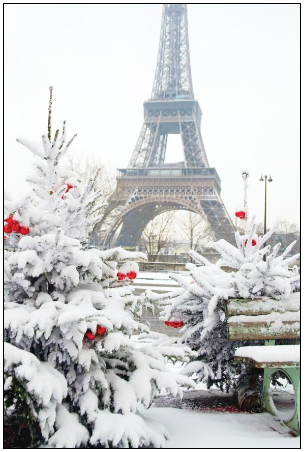 The Eiffel Tower at Christmas