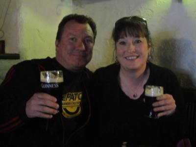Brian and Tara, Guinness at the bar