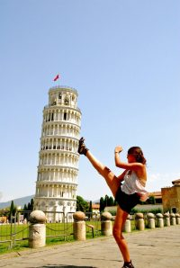 Leaning Tower pose!