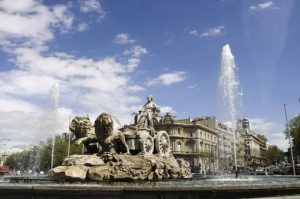 Plaza de Cibeles Fountain, Madrid, Spain