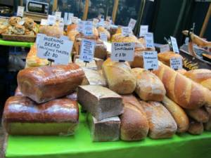 Local breads at St. George's market, Belfast, Ireland