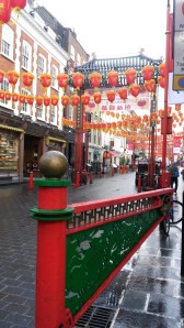 Chinese New Year decorations in London
