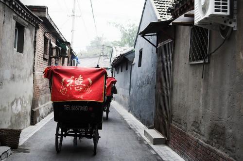 rickshaw in hutong